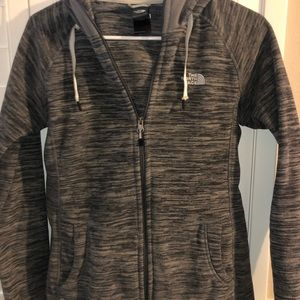 North face zip up with hoodie